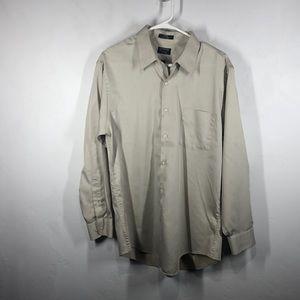 Arrow light tank button down dress shirt size 16.5